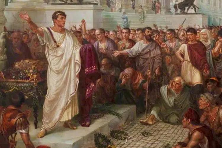 Marco Antonio davanti al cadavere di Giulio Cesare
