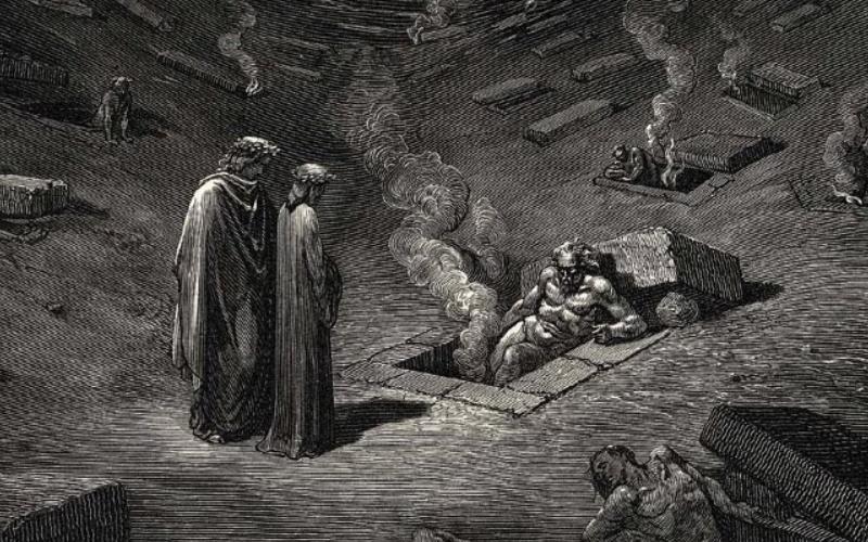 Dante, Virgilio e Farinata secondo Gustavo Doré