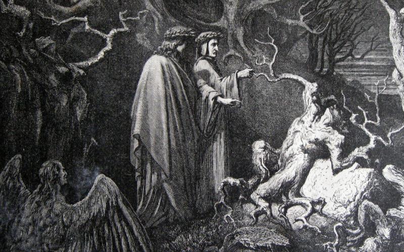 Dante e Virgilio incontrano Pier delle Vigne